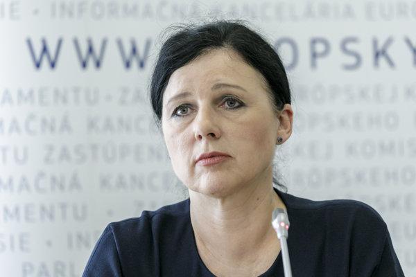 Eurokomisárka Věra Jourová.