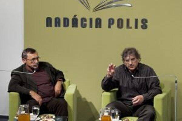 Anton Heretik a Jozef Hašto diskutovali v Nadácii Polis.