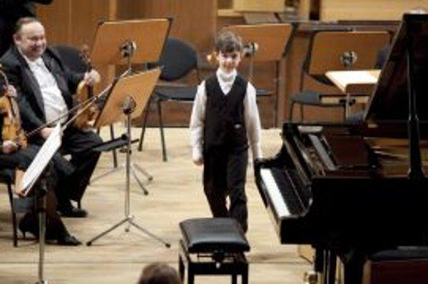 Talentovaný desaťročný klavirista Martin Chudada