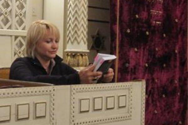 Minulý rok čítala v žilinskej synagóge Anna Šišková.