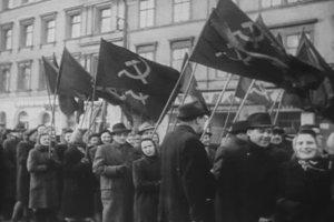 Prokomunistická agitácia, v roku 1947.