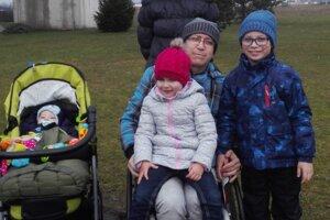 Ľuboš Kondela s rodinou.