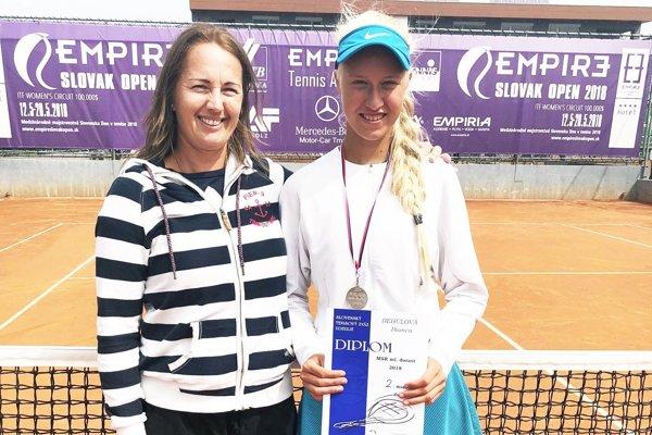 Bianca Behúlová s trénerkou Andreou Hradeckou.