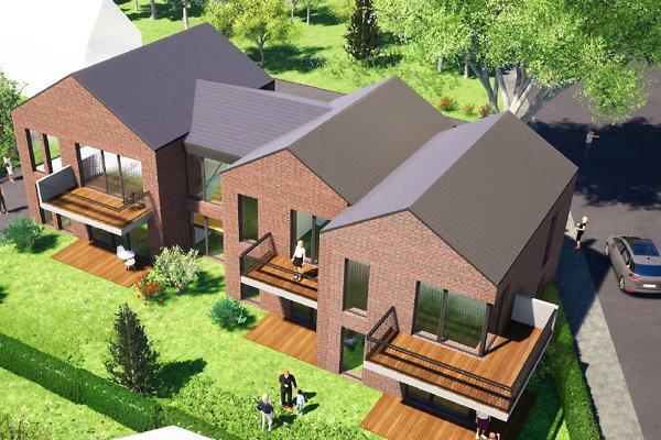 Takto by mohol vyzerať bytový dom namiesto súčasného, rozpadávajúceho sa objektu.