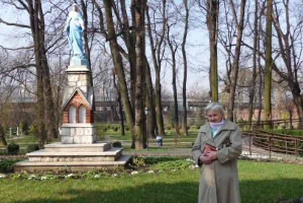 Štefánia Krištofíková na púti v Poľsku.