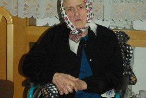 Oslávenkyňa, storočná pani Čičmancová zo Stráňav.