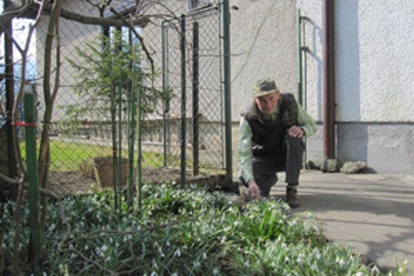 Maximilián Tvrdý ej vášnivý záhradkár.