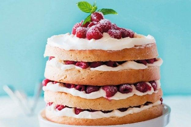 Trená torta s tvarohom