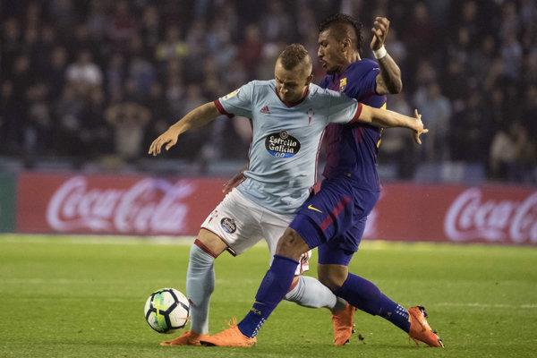 Stanislav Lobotka (vľavo) v zápase proti FC Barcelona.