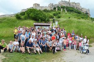 Návštevníci zo Zábiedova pod Spišským hradom.