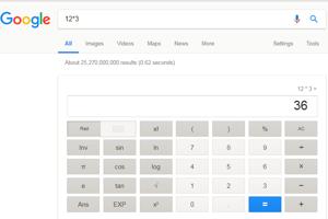 Google môžete používať ako kalkulačku. Stačí, ak do riadku pre vyhľadávanie napíšte príklad, ktorý potrebujete vypočítať. Kalkulačka zvláda vypočítať aj trigonometrické funkcie či faktoriály.