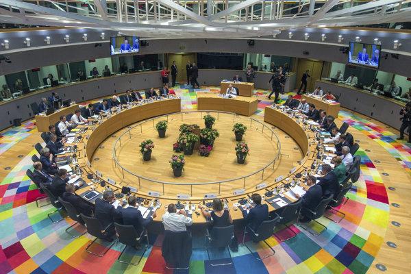 Rokovanie zástupcov členských štátov EÚ v Bruseli.