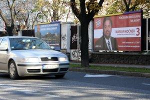 5. november 2006. Predvolebný billboard kandidáta na primátora Bratislavy Mariana Kočnera.