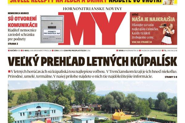Čítajte MY Hornonitrianske noviny a región budete mať ako na dlani!