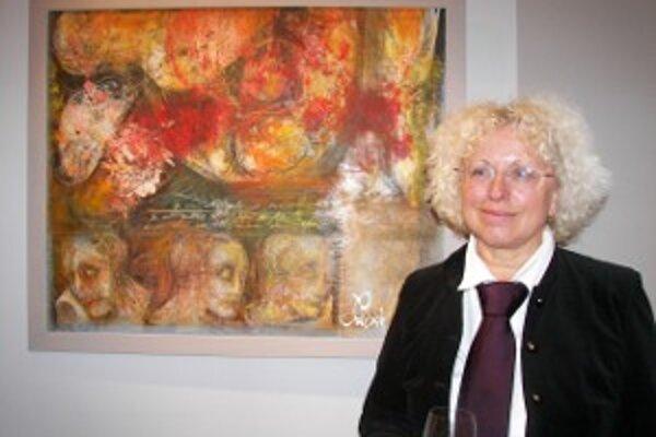 Emília Jakubisová na výstave Fragmenty snov.