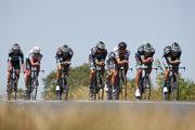 Peter Sagan a jeho tím Bora-Hansgrohe na tréningu pred 3. etapou na Tour de France 2018.