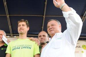 Peter Sagan so svojím otcom Ľubomírom.