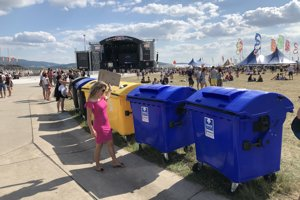 Triedenie odpadu je na Pohode štandardom.