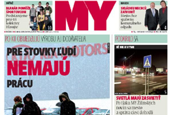 MY Žilinské noviny sú už v predaji.