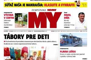 Titulná strana týždenníka MY Zemplínske noviny č. 27/2018.