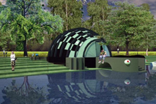 Jeden z návrhov študentov krajinnej architektúry.