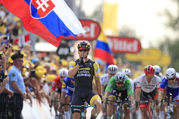 Dylan Groenewegen víťazí v 7. etape na Tour de France 2018.
