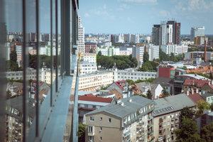 Pohľad na mestskú časť Ružinov..