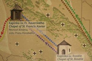 Mapa Spišského Jeruzalema, kaplnky, ktoré obnovia