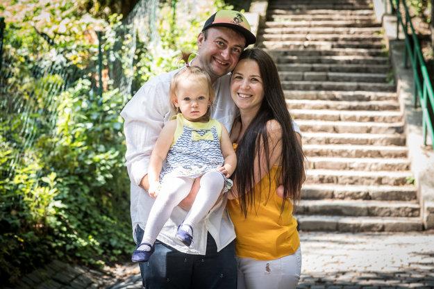 Radko a Lenka Gregorovci s dcérou Hankou