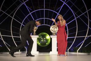 Novak Djokovič (vľavo) a Angelique Kerberová na Večeri šampiónov.