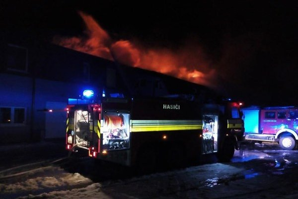Nočný požiar v Rabči.
