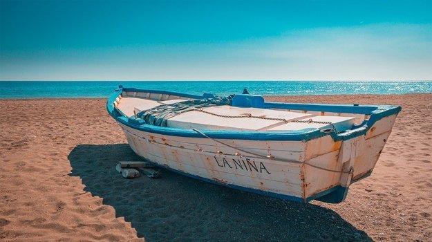 Pláž, Andalúzia.