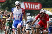 Arnaud Démare sa raduje z víťazstva v 18. etape na Tour de France 2018.