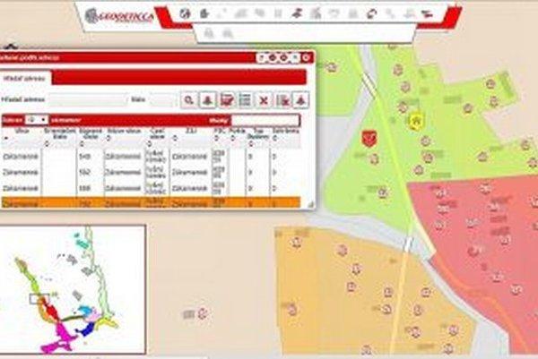 Na digitálnej mape je všetkých 1456 budov s evidenčným číslom.