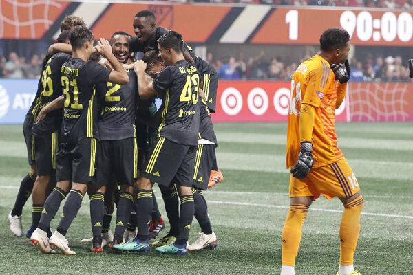 Juventus oslavuje triumf v prípravnom zápase.