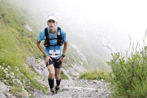 Matej Páleník na trati ultra trailu v talianskych Alpách.