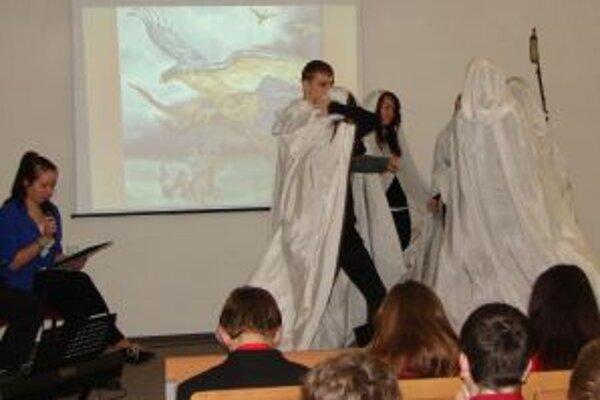 Scéna znázorňujúca jeden zo zážitkov sv. Konštantína z detstva.