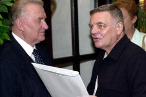 Bývalý prezident Michal Kováč a Stano Dančiak.