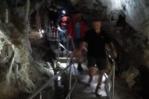 Zásah v Belianskej jaskyni.