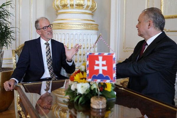 Prezident sa stretol s nemeckým veľvyslancom.