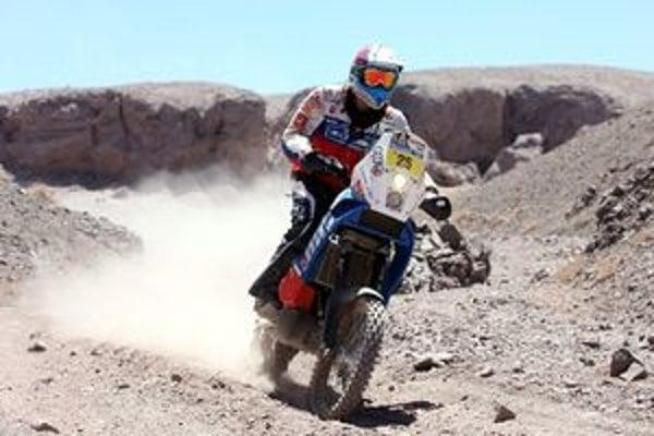 Štefan Svitko na trati Rely Dakar.