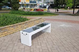 Inteligentná lavička v Michalovciach.