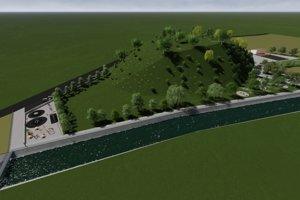 Podhľad na budúcu možnú oddychovú zónu v Košútoch.