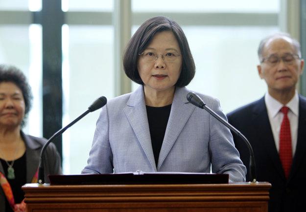 Taiwanská prezidentka Cchaj Jing-wen.