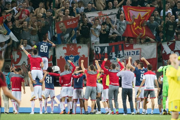 Futbalisti Crvenej zvezdy.