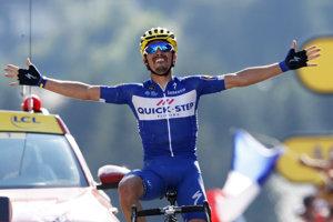 Belgický tím bude mať na budúci rok miesto sponzora svoju prezývku - Wolfpack. Na snímke Julian Alaphilippe pri víťazstve v 10. etape na Tour de France.