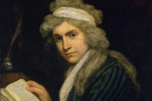 Mary Wollstonecrafová na obraze Johna Opiea, 1790–1.