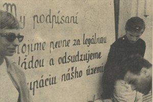 Protestujúci Košičania.