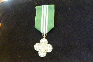 Ocenenie kríž vojnového veterána.