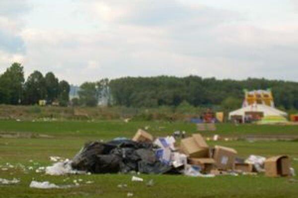 Po skončení festivalu to vyzeralo takto...
